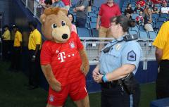 Fussball / firo USA Tour FC Bayern - AC Mailand 23.07.19
